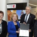 Historic announcement at York University's Glendon Campus during the 2016 Toronto Francophonie Forum