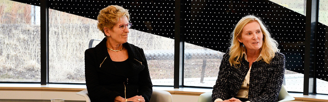 Premier Wynne visits York U to discuss access and entrepreneurial education