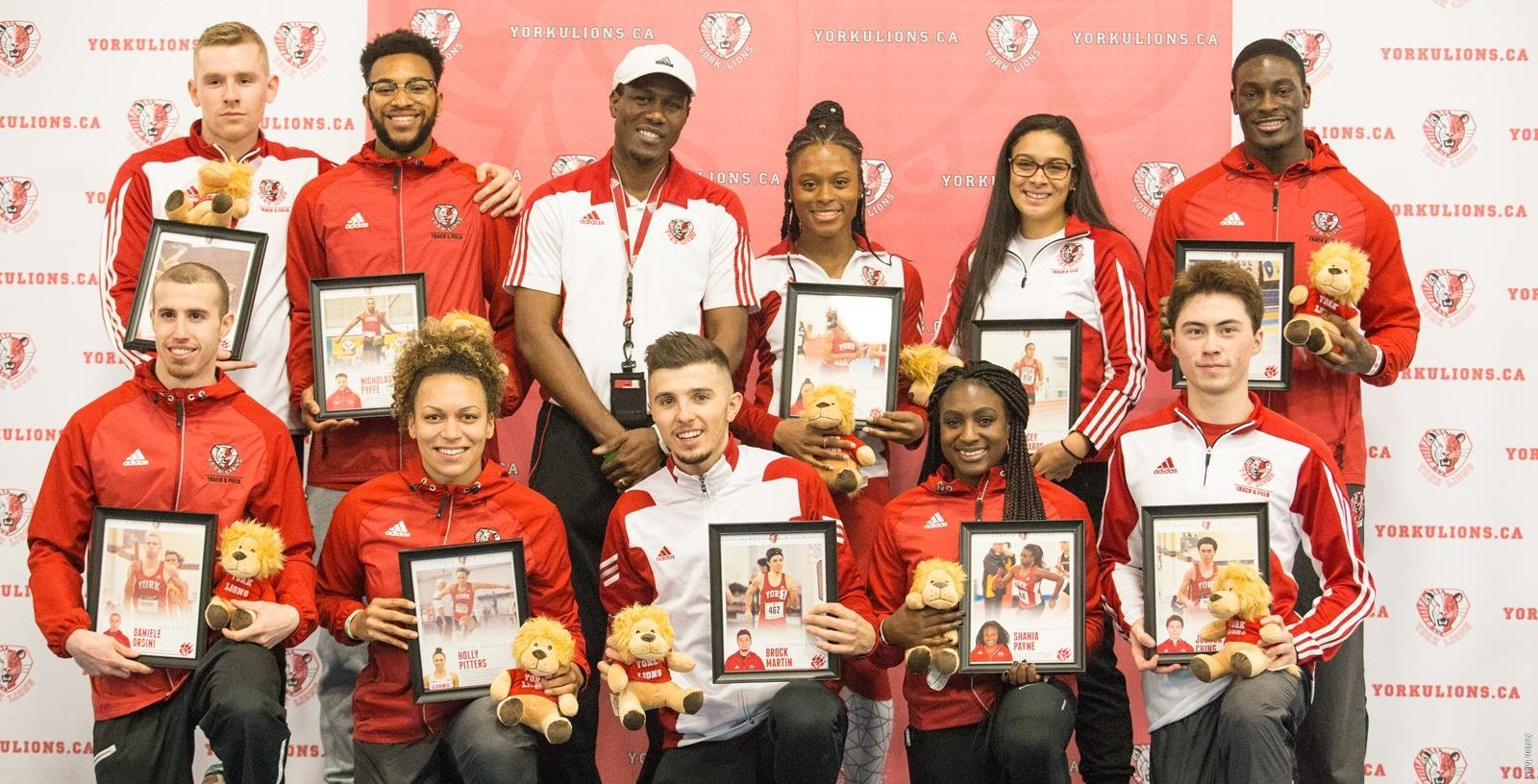 10 graduating student-athletes from the men's and women's track and field teams