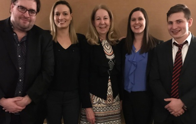 Canadian Client Consultation Competition - Anna Morrish is second from left and Andrea McPhedran is second from right