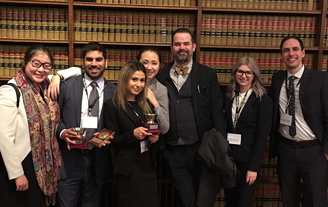 JD students Shakir Rahim and Maya Bretgoltz were named Third Place Team in 2018 Gale Cup Moot