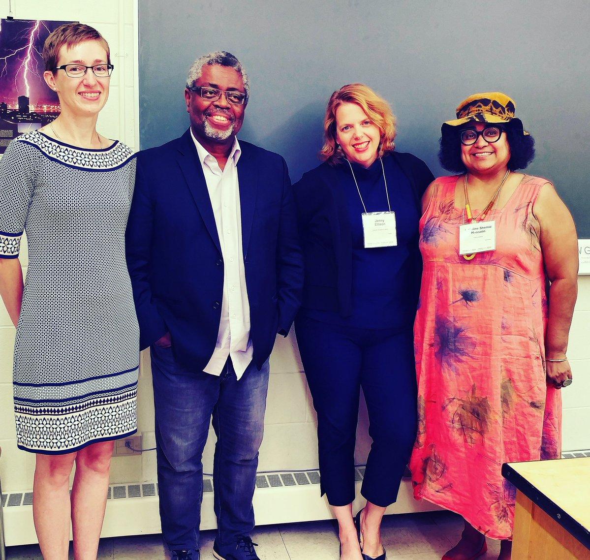 Caroline Hossein (pictured far right)