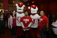 York community with York Lion mascots