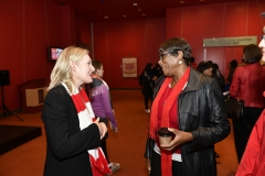York U community member speaking with Rhonda Lenton
