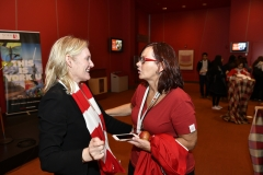 York U community member speaking with Rhonda Lenton