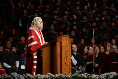 York U President Rhonda L. Lenton giving her speech at Installation Ceremony