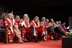 President and Vice-Chancellor Rhonda L. Lenton with Presidents Emeriti Mamdouh Shoukri, Lorna R. Marsden, Harry W. Arthurs, and H. Ian Macdonald