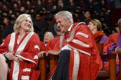 President and Vice-Chancellor Rhonda L. Lenton with President Emeritus Mamdouh Shoukri