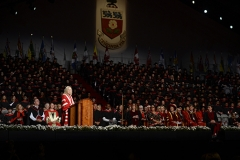 York U President Rhonda L. Lenton giving her speech at Installation Ceremony